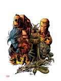 Secret Avengers 8 Cover: Steve Rogers and Beast Posing