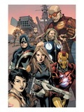 Ultimate Avengers vs New Ultimates No2: Carol Danvers  Iron Man  Captain America  Thor  Giant Man
