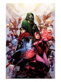 Avengers: The Childrens Crusade No4 Cover: Scarlet Witch  Wiccan  and Dr Doom
