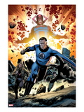 Fantastic Four 586: Mr Fantastic and Galactus Running