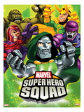 Marvel Super Hero Squad: Abomination  Magneto  Dr Doom  Loki  and Sentinel Posing