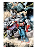Marvel Adventrues Super Heroes 5: Captain America and Rhino Holding the Shield