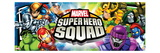 Marvel Super Hero Squad: Wolverine  Thor  Hulk  Iron Man  Loki  Dr Doom  Sentinel  and Mystique