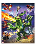 Marvel Super Hero Squad: Iron Man  Thor  Falcon  Fin Fang Foom  Wolverine  Storm  and Silver Surfer