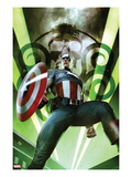 Captain America: Hail Hydra No1 Cover: Captain America Posing with a Shield