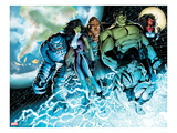 Incredible Hulks 614: A-Bomb  She-Hulk  Hulk  Skaar  Red She-Hulk  and Korg Standing