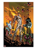 Fantastic Four 600: Human Torch  Annihilus  and Others Posing