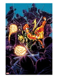 Shadowland: Power Man 3 Cover: Galactus and Silver Surfer Fighting
