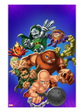 Marvel Super Hero Squad: Dr Doom  Dormammu  Enchantress  Juggernaut  Mole Man  and Absorbing Man