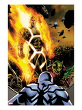 Fantastic Four No600 Cover: Human Torch and Annihilus