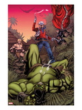 Skaar: King of The Savage Land No3 Cover: Skaar  Ka-Zar  Moon Boy