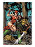 Herc 10 Cover: Elektra and Hercules Fighting