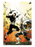Daken: Dark Wolverine 12 Cover: Daken and Task Master Fighting