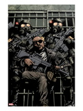 Ultimate Avengers vs New Ultimates 1: Nick Fury with Guns in Jail