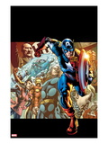 Captain America: Man out of Time 1 Cover: Captain America  Thor  Wasp  and Iron Man Running