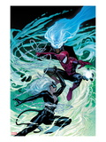 Ultimate Spider-Man 154 Cover: Black Cat  Spider-Man  and Mysterio Fighting and Jumping