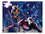 New Avengers Annual 1: Iron Patriot  Sentry  Wolverine  and Hawkeye Flying