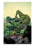 Incredible Hulk No4 Cover: Hulk Fighting