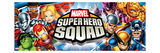 Marvel Super Hero Squad: Wolverine  Thor  Hulk  Iron Man  Captain America  Thing  and Falcon Flying