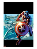 Captain America: Man out of Time No2 Cover: Captain America Running