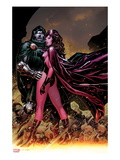 Avengers: The Childrens Crusade No7 Cover: Scarlet Witch and Dr Doom Standing Together