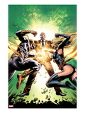 New Avengers No22 Cover: Ms Marvel  Iron Fist  and Norman Osborn Fighting