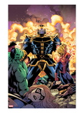 Avengers &amp; The Infinity Gauntlet 2 Cover: Thanos  Hulk  Spider-Man  Ms Marvel  and Dr Doom