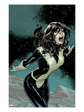 Uncanny X-Men 537 Cover: Kitty Pryde Screaming at Night