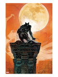 Moon Knight 4 Cover: Moon Knight Crouching on a Column