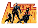 Secret Avengers 16 Cover: Steve Rogers  Beast  Black Widow  and Moon Knight