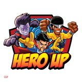 Marvel Super Hero Squad Badge: Hero Up - Wonder Man  Dr Strange  and Luke Cage Posing
