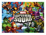 Marvel Super Hero Squad: Thor  Wolverine  Hulk  Iron Man  Loki  Magneto  Mystique  and Dr Doom