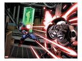 Avengers: X-Sanction 1: Captain America Shooting at Cable
