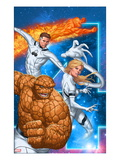 Fantastic Four 604 Cover: Thing  Invisible Woman  Mr Fantastic  and Human Torch