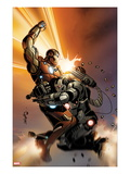 Invincible Iron Man 513 Cover: Iron Man and War Machine Fighting