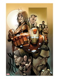 Invincible Iron Man 5001 Cover: Iron Man  Pepper Potts  and Virginia