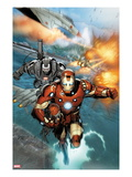 Invincible Iron Man 513: Iron Man and War Machine Flying
