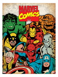 Marvel Comics Retro: Hulk  Thor  Spider-Man  Wolverine  Captain America  Iron Man  and Thing