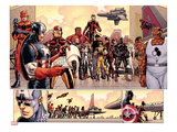 Avengers vs X-Men 3: Captain America  Iron Man  Ant-Man  Wolverine  Black Panther  and Thing