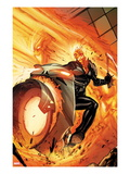 Venom 131 Cover: Ghost Rider Riding a Flaming Motorcycle