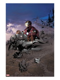 Invincible Iron Man 515 Cover: Iron Man and War Machine
