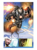 Invincible Iron Man 513: Panels with War Machine and Iron Man