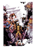 Wolverine & The X-Men 8 Cover: Wolverine  Captain America  Thing  Storm  Psylocke and Others