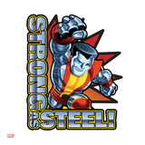 Marvel Super Hero Squad Badge: Strong as Steel! Colossus Charging
