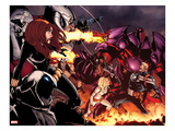 Onslaught Unleashed No1 Cover: Steve Rogers  Onslaught  Black Widow  and Moon Knight Fighting