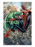 Marvel Adventures Spider-Man 10 Cover: Spider-Man and Scorpion Fighting