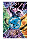 Fantastic Four No587 Cover: Thing  Human Torch  Invisible Woman  and Mr Fantastic