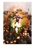 Invincible Iron Man 512 Cover: iron Man Flying