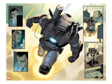 Iron Man 20 No2: Panels with War Machine Flying