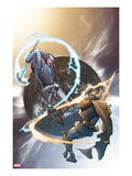 The Mighty Thor 10 Cover: Tanarus and Heimdall